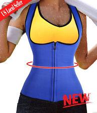 Waist Trainer Neoprene Body Hot Sweat Shaper Fat Burner Zipper Vest Bodysuit V5