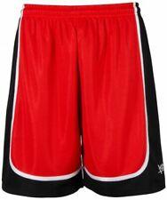 k1x Hardwood - League Uniform Basketball Shorts mk2 - rot / schwarz / weiß