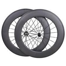 88mm Carbon Wheel Clincher Road Bicycle 700C 3k Matt rim Powerway R13 front rear