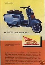 DUCATI CRUISER PROSPEKT 1953  BOLOGNA ITALIEN ROLLER