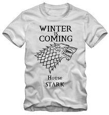 T-shirt /Maglietta Game Of Thrones Trono Di Spade House Stark Serie TV