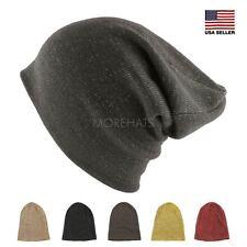 Cotton Slouchy Two Tone Knit Beanie Winter Warm Ski Hip-hop Hat Men's Women's
