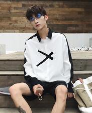 Fashion Men's Clothing Long Sleeve White Thin Shirt