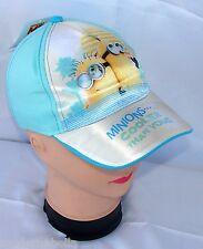 Minions Spiaggia cappello Premium con visiera Bambino Baseball tg 52 i 54 blu