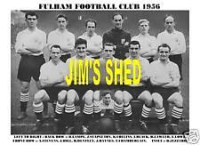 Fulham F.C TEAM Print 1956 (Lampe / Haynes / Nero / Bentley)