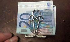 1 pince à billets à déclenchement infini artisanal port FERME ARGENT money clip