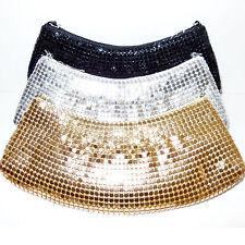 Pochette Cerimonia oro argento nero dorata Clutch metallo borsa elegante D0367