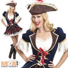 SEXY CAPITANO BUCCANEER Donna Costume Pirata Caraibi Donna Costume Vestito
