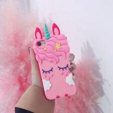 Rosa Unicornio Caballo Silicone Funda Carcasa Para Samsung J3 5 6 7 S8 S9 Plus 9