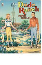 Vintage Uncut Dude Ranch Paper Doll Hd Laser Reproduction Lo Price Hi Qaul Top
