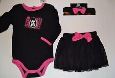 Spencer/'s Baby One Piece Cherry Skull Jumpsuit /& matching Flip Flops 0-6 Months