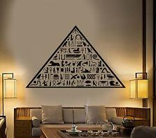 Vinyl Wall Decal Ancient Egypt Egyptian Pyramid Hieroglyphs Stickers (1924ig)
