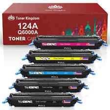 Toner Cartridges Lot For HP Color LaserJet 2600n 2605dn 1600 CM1015 mfp 124A
