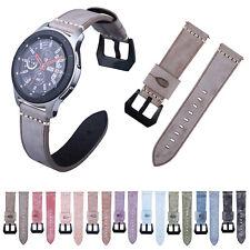 Retro Wax Skin Band For Samsung Gear S3 Galaxy Watch 46mm Genuine Leather Strap