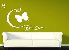 Wall Vinyl Sticker Decal Beautiful Butterfly Flexible Lines Pattern Swirl (n065)