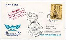 1978 VATICANO POSTA AEREA ITALIANA ALITALIA VOLO MILANO-ZURIGO B/5067
