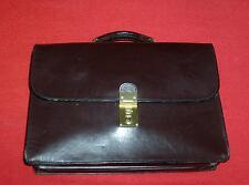 Brown Leather Schlesinger Brief Case w/ Brass Hardware High Quality Attache