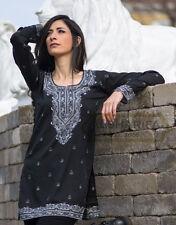 Indian TUNIC | Elegant Woman Top | KURTI | kurta | Tops | RN-BLK : FREE SHIP USA
