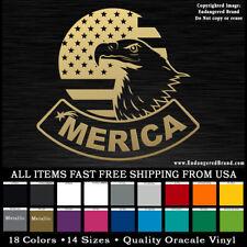 America Eagle Flag Circle   STICKER DECAL window hood fenders windshield