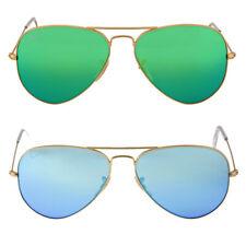 Ray-Ban Aviator  Green / Blue Flash Polorized Sunglasses