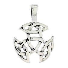 "Sterling Silver Celtic Knot Pendant / Charm, 18"" Italian Box Chain"