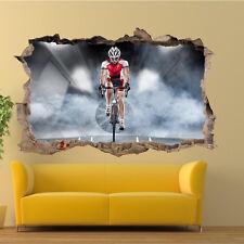 Carrera De Bicicleta Biker Pegatinas de Pared 3D Decoración Habitación Oficina Tienda Mural de Arte TY9