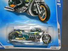HW HOT WHEELS 2009 REBEL RIDES #1 AIRY 8 MOTORCYCLE HOTWHEELS GREEN RARE VHTF