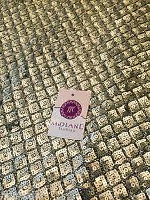 A Forma di Diamante Antico Matt Oro cuciti in paillettes abito tessuto lucido M78 mTEX