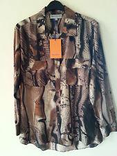 Mary Portas Shirt, animal print, New, rrp £105, size 12