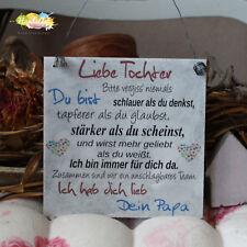 Shabby Style Liebe Tochter Holzschild Geschenk Deko HandsArt Deine Mama