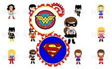 Girl Superheroes 1 Inch Bottle Cap Images (6 Options)