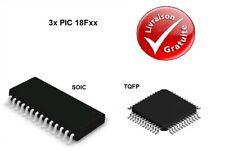 3x Microcontrôleurs Microchip : PIC 18F - SOIC / TQFP : NEUF
