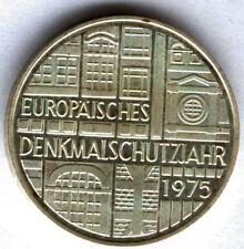 Alemania 5 Marcos 1975 F plata @ Monumento europeo @