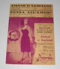 Spartito AMAMI O LASCIAMI Pensa all'amor DORIS DAY James Cagney 1950