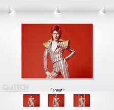 David Bowie - 13 - Quadro stampa su Tela Pelle Canvas Dipinto Arte Moderna