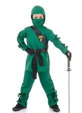 Green Ninja Kids Costume 2 Sizes