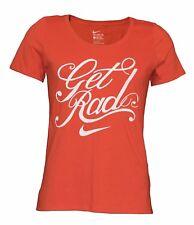 Nike Women's Cursive Get Rad Athletic Performance Orange T-Shirt