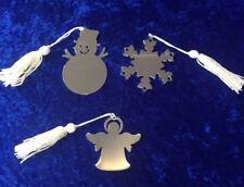 Personalised Metal Christmas Tree Decorations Angel, Snowflake, Snowman Gift