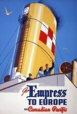 TX311 Vintage 1950's Empress To Europe Cruise Ship Travel Poster A1/A2/A3/A4