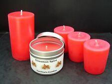 Fatto a mano Cannella Spice Rosso Profumato CERO, pilastro candele o contenitore