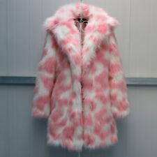 Womens Faux Fox Fur Coat Thicken Parka Outwear Jacket Warm Party Overcoats S-6XL