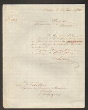 """BRULY (BELGIQUE) DOMAINE de COUVIN , Régisseur """"J. SCHELLINX"""" en 1866"""