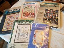 5 Childhood needlework themes, Bucilla, Sunset, Fond Memories, Stitchables