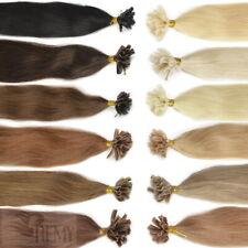 80 Keratin Bonding Echthaar Strähnen 1 g Wärmezange U Tip 45 cm Haarverlängerung