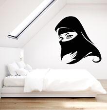 Vinyl Wall Decal Islam Muslim Woman Paranja Religion Stickers (2250ig)
