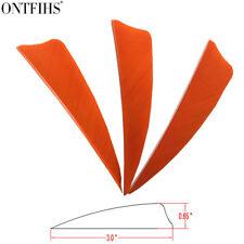 "200pcs 3"" Orange Shield Cut Archery Fletches Feather Fletching Arrow Feathers"