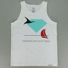 Diamond Yacht Tank Tee Vest - White - S M