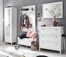Garderobenset Flur Garderobe Set weiß 5-tlg komplett mit Schuhschrank Diele Ole