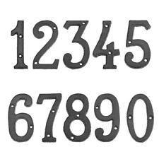 Metal Digital Numbers Cast Iron House Sign Doorplate DIY Cafe Wall Decor SL#