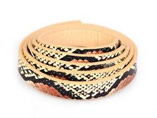 Vente serpent léopard rose marron or bracelet en cuir synthétique plat pour fabrication de bijoux
